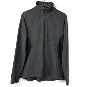 Adidas Full Zip Charcoal Grey Athletic Jacket